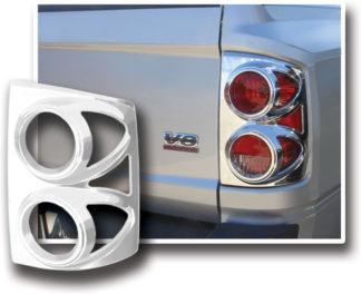 ABS Chrome Tail Light Bezel 2005 - 2011 Dodge Dakota