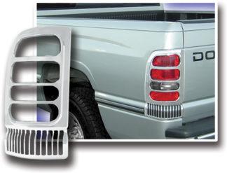 ABS Chrome Tail Light Bezel 1994 - 2001 Dodge Ram