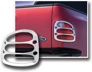 ABS Chrome Tail Light Bezel 1997 - 2003 Ford F150 Flareside | F150 Stepside