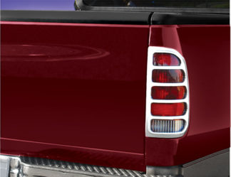 ABS Chrome Tail Light Bezel 1997 - 2003 Ford F150 Fleetside