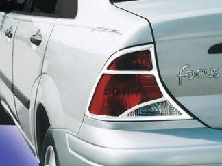 ABS Chrome Tail Light Bezel 2000 - 2004 Ford Focus Sedan
