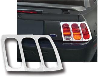 ABS Chrome Tail Light Bezel 1999 - 2004 Ford Mustang