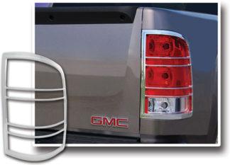 ABS Chrome Tail Light Bezel 2007 - 2013 GMC Sierra