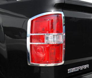ABS Chrome Tail Light Bezel 2014 - 2015 GMC Sierra
