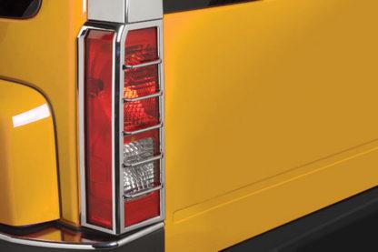 ABS Chrome Tail Light Bezel 2-Pc 2006 - 2010 Hummer H3
