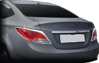 ABS Chrome Tail Light Bezel 2012 - 2015 Hyundai Accent