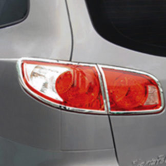 ABS Chrome Tail Light Bezel 4-Pc 2007 - 2009 Hyundai SantaFe