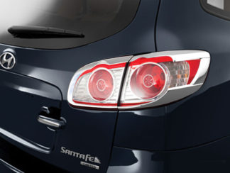 ABS Chrome Tail Light Bezel 4-Pc 2010 - 2012 Hyundai SantaFe