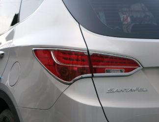 ABS Chrome Tail Light Bezel 4-Pc 2013 - 2013 Hyundai SantaFe