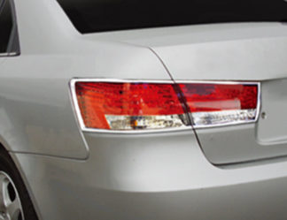 ABS Chrome Tail Light Bezel 4-Pc 2006 - 2010 Hyundai Sonata