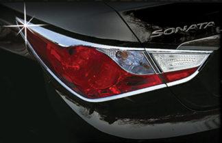 ABS Chrome Tail Light Bezel 4-Pc (Will NOT fit 2014 Model) 2011 - 2013 Hyundai Sonata
