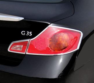 ABS Chrome Tail Light Bezel 4-Pc 2007 - 2013 Infiniti G-Series