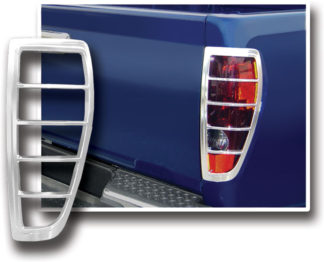 ABS Chrome Tail Light Bezel 2006 - 2008 Isuzu Pickup