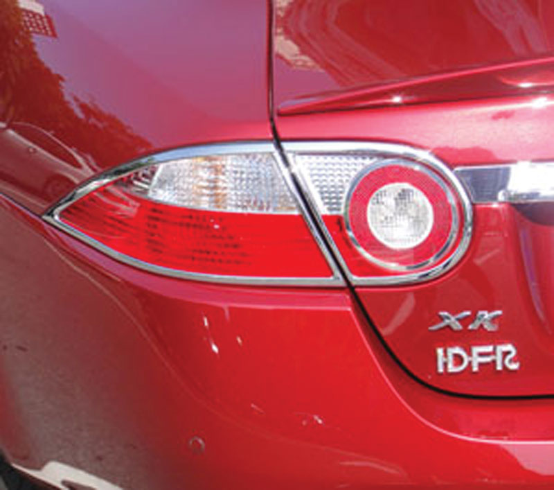 ABS Chrome Tail Light Bezel 4-Pc 2007 - 2013 Jaguar XK