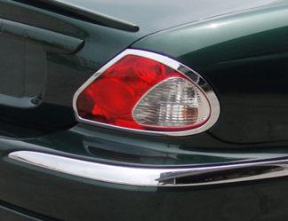 ABS Chrome Tail Light Bezel 2001 - 2008 Jaguar X-Type