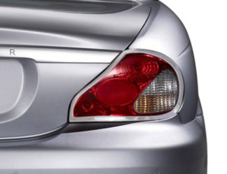 ABS Chrome Tail Light Bezel ** CHECK THIS APPLICATION US VER X-TYPE ONLY AVAILABLE FROM 01-08 2009 - 2012 Jaguar X-Type