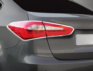 ABS Chrome Tail Light Bezel 4-Pc 2014 - 2014 Kia Forte Sedan
