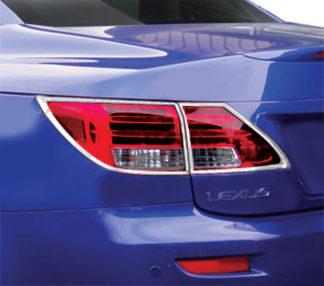 ABS Chrome Tail Light Bezel 4-Pc 2010 - 2012 Lexus ISC