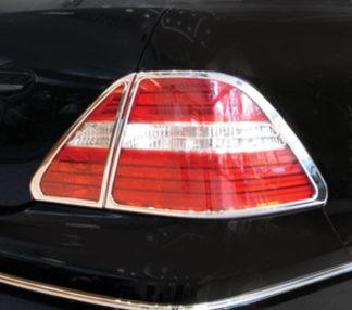 ABS Chrome Tail Light Bezel 4-Pc 2004 - 2006 Lexus LS