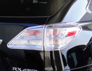 ABS Chrome Tail Light Bezel 4-Pc 2010 - 2012 Lexus RX