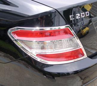 ABS Chrome Tail Light Bezel 2008 - 2012 Mercedes C-Class