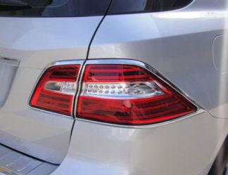 ABS Chrome Tail Light Bezel 4-Pc 2012 - 2013 Mercedes ML-Class