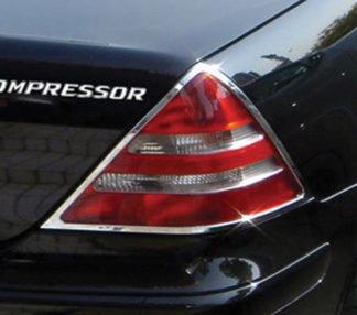 ABS Chrome Tail Light Bezel 1998 - 2004 Mercedes SLK