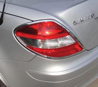 ABS Chrome Tail Light Bezel 2005 - 2011 Mercedes SLK