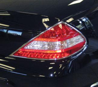 ABS Chrome Tail Light Bezel 2009 - 2012 Mercedes SL