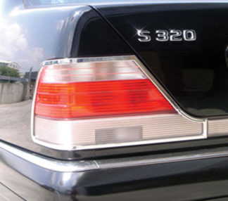 ABS Chrome Tail Light Bezel 1994 - 1999 Mercedes S-Class