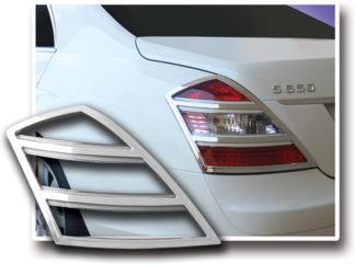 ABS Chrome Tail Light Bezel 2007 - 2009 Mercedes S-Class