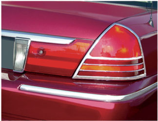 ABS Chrome Tail Light Bezel 2003 - 2011 Mercury Grand Marquis