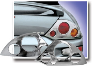 ABS Chrome Tail Light Bezel 2000 - 2005 Mitsubishi Eclipse