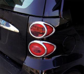 ABS Chrome Tail Light Bezel 4-Pc 2008 - 2012 Smart ForTwo