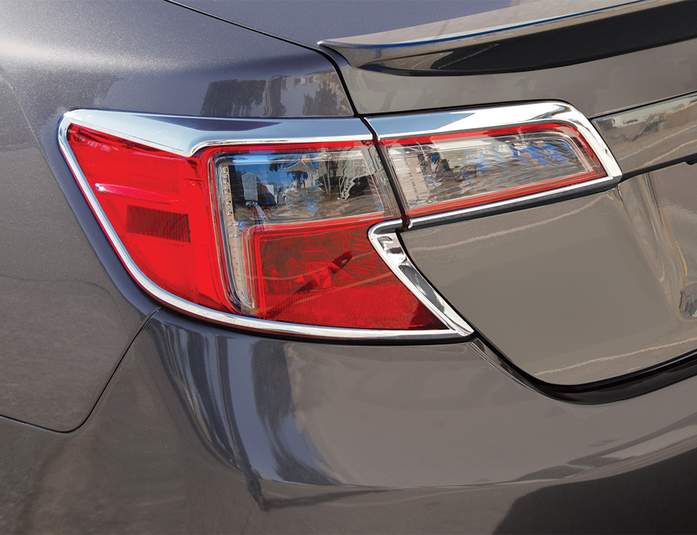 Chrome ABS Tail Light Bezels for 2007-2010 Toyota Camry