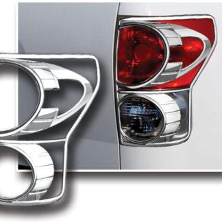 ABS Chrome Tail Light Bezel 2007 - 2009 Toyota Tundra