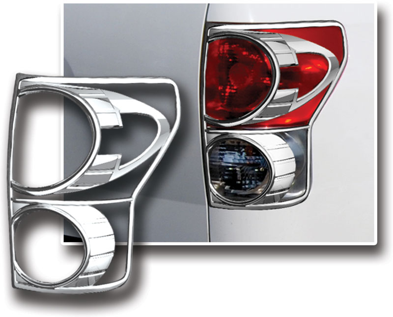 Chrome Mirror Door Tailgate light Cover For Toyota Tundra Double Cab 2007-2009