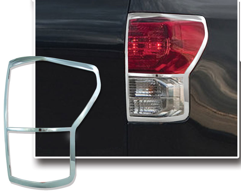 ABS Chrome Tail Light Bezel 2010 - 2013 Toyota Tundra