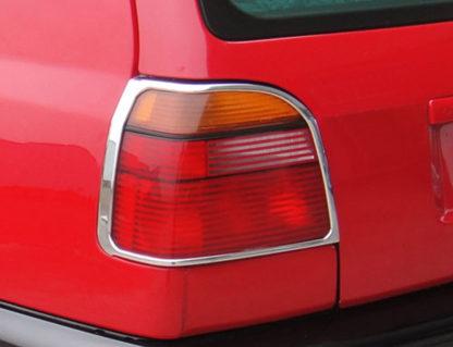 ABS Chrome Tail Light Bezel 1993 - 1998 Volkswagen Golf 3