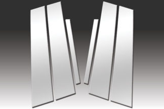 Mirror Finish Stainless Steel Pillar Post 6-Pc 2013 - 2016 Acura ILX