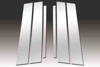 Mirror Finish Stainless Steel Pillar Post 6-Pc 2013 - 2016 Acura RDX