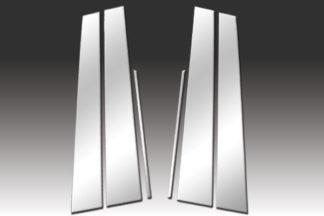 Mirror Finish Stainless Steel Pillar Post 6-Pc 2005 - 2009 Acura RL