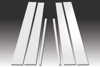 Mirror Finish Stainless Steel Pillar Post 6-Pc 2004 - 2008 Acura TL