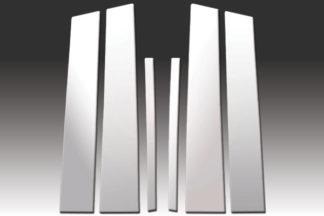 Mirror Finish Stainless Steel Pillar Post 6-Pc 2009 - 2014 Acura TL