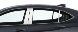 Mirror Finish Stainless Steel Pillar Post 6-Pc 2015 - 2016 Acura TLX
