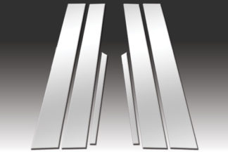 Mirror Finish Stainless Steel Pillar Post 6-Pc 2004 - 2008 Acura TSX