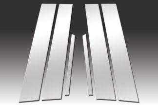 Mirror Finish Stainless Steel Pillar Post 6-Pc 2009 - 2014 Acura TSX