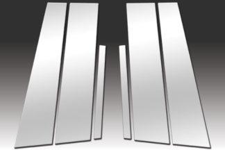 Mirror Finish Stainless Steel Pillar Post 6-Pc 2010 - 2013 Acura ZDX