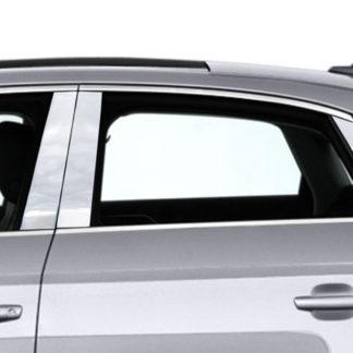 Mirror Finish Stainless Steel Pillar Post 8-Pc 2015 - 2016 Audi A3-Sedan