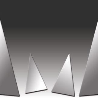 Mirror Finish Stainless Steel Pillar Post 4-Pc 2006 - 2008 Audi A4